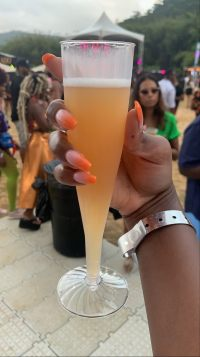 Champagne at Beach House